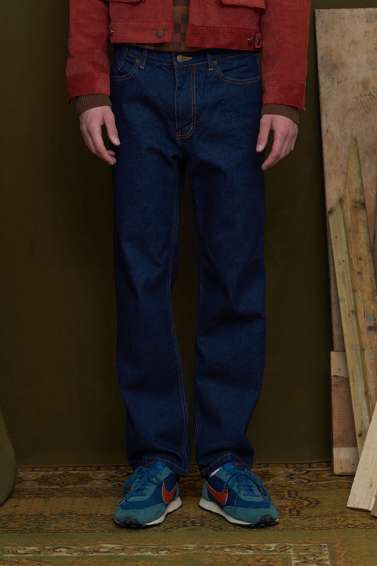 PINTUCK JEANS / DARK BLUE