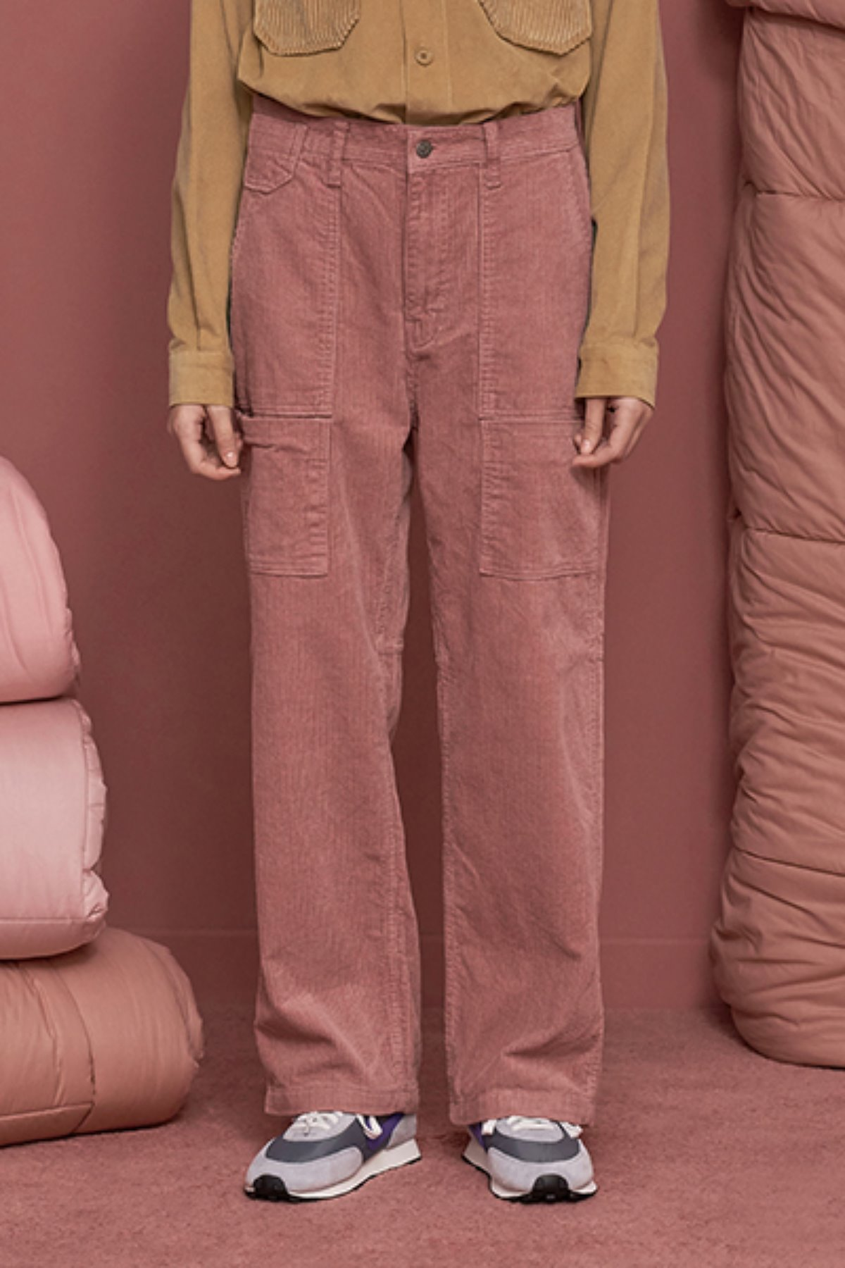 POCKET CORDUROY PANTS / PINK