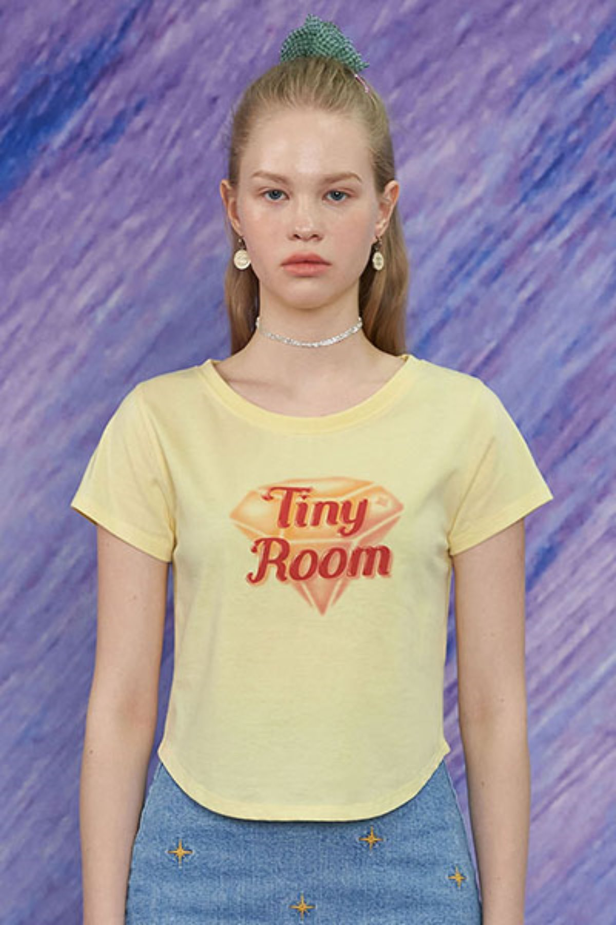 TINY ROOM T SHIRT / LEMON