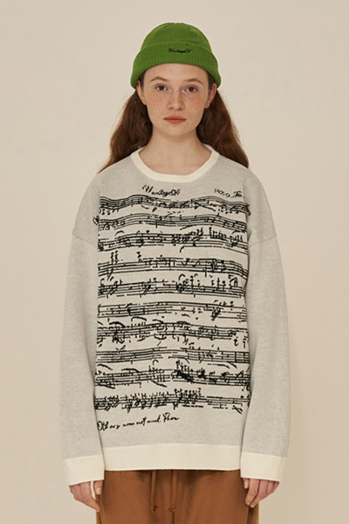 SHEET MUSIC KNIT / IVORY