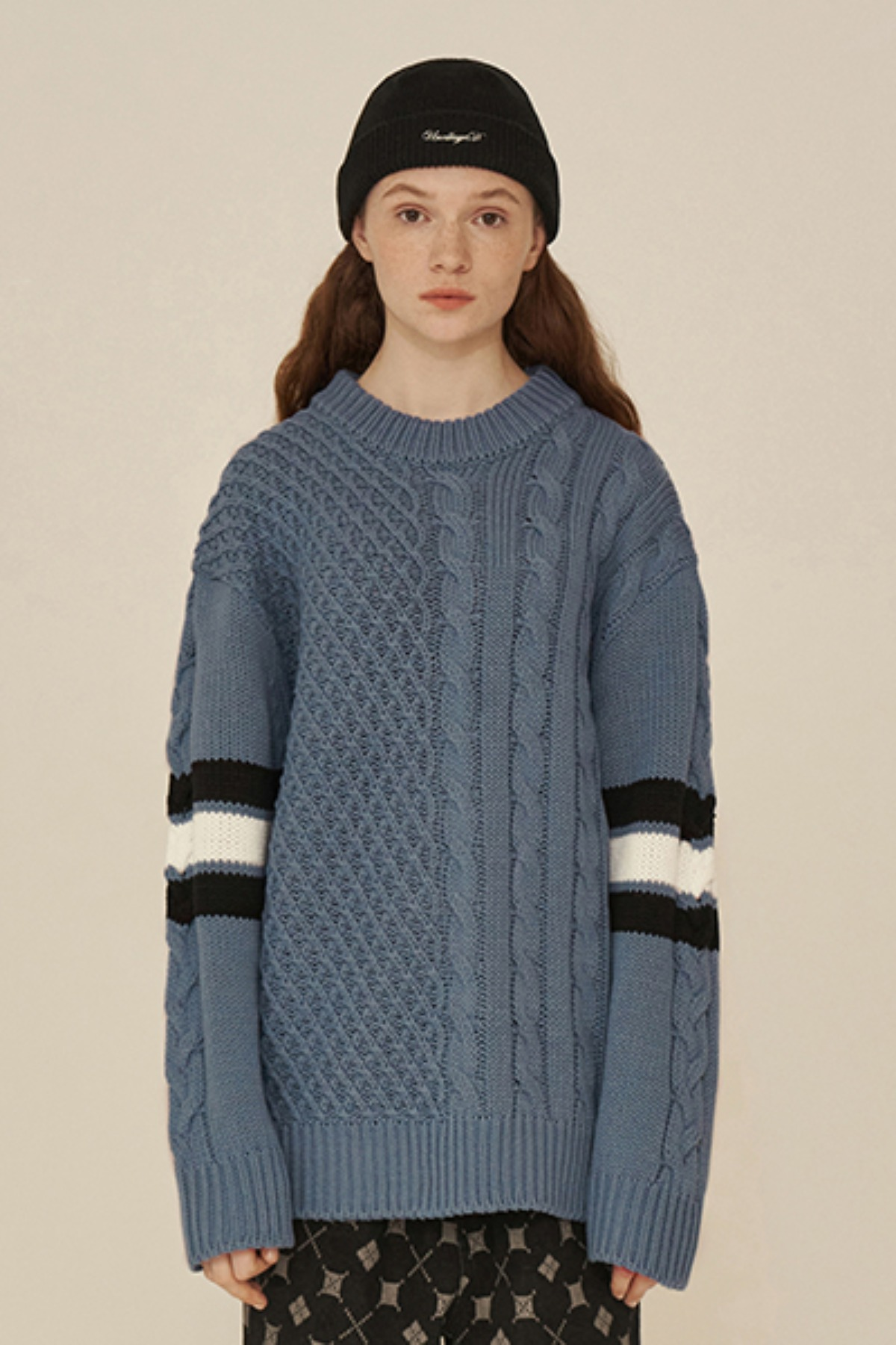 FISHERMAN ROUND KNIT / BLUE