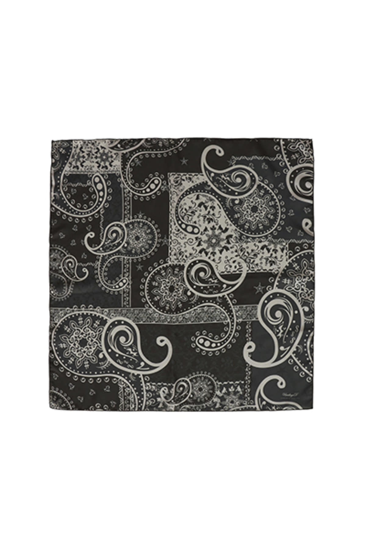 NOTE PAISLEY BANDANA / BLACK