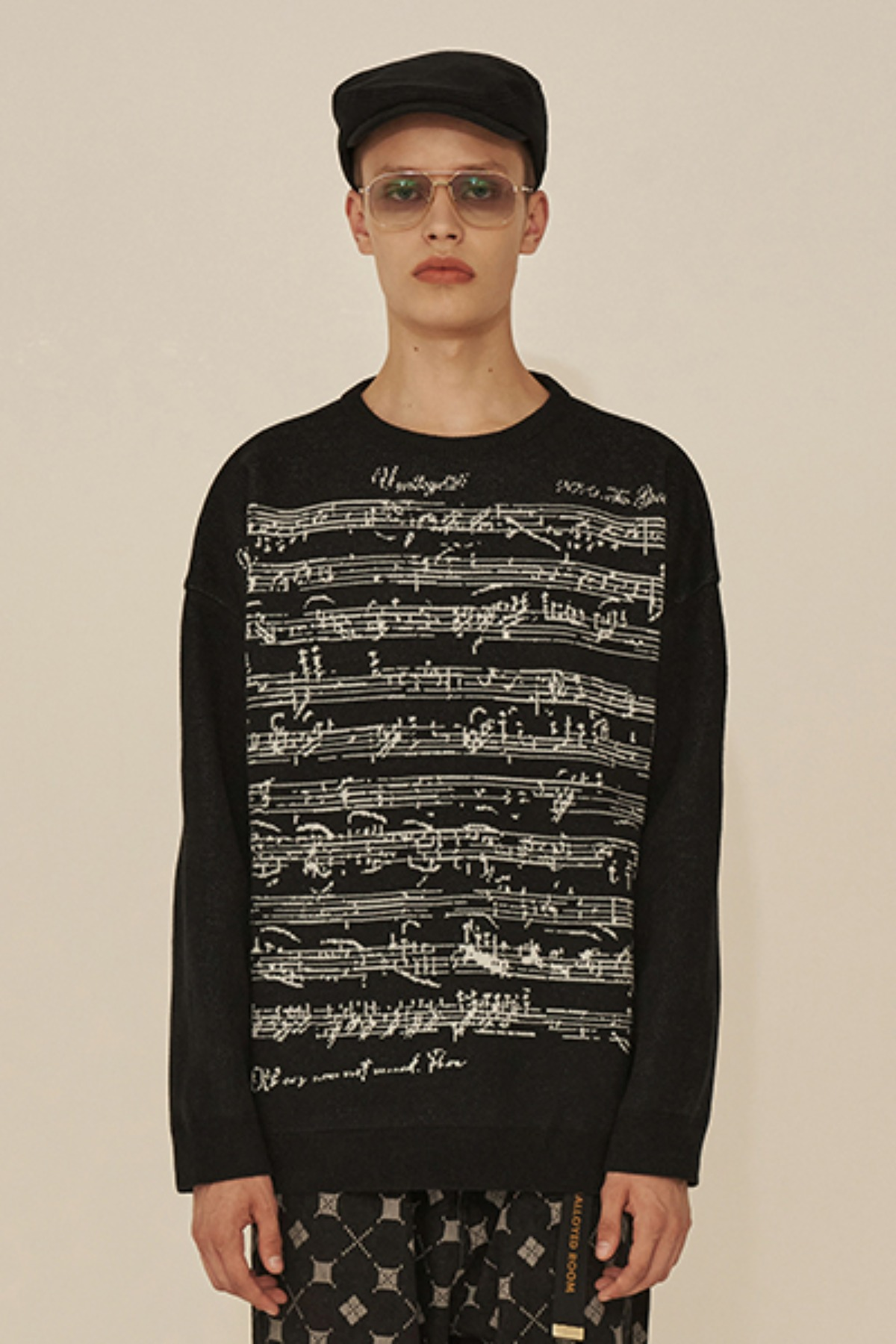 SHEET MUSIC KNIT / BLACK